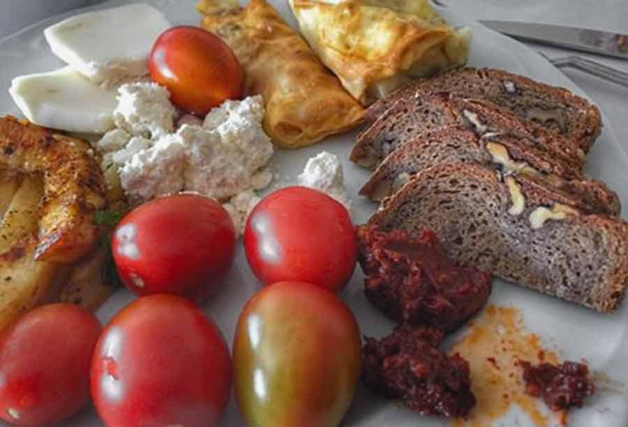 İpek Hanım Çiftliği kahvaltı